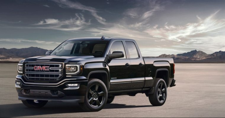 The 2016 GMC Sierra 1500 features an optional Elevation Edition package
