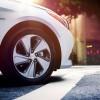 16-inch Eco-spoke aluminum alloy wheels are standard on the 2016 Hyundai Sonata Hybrid