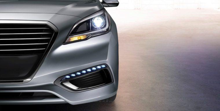 The 2016 Hyundai Sonata Hybrid comes standard with LED Daytime Running Lights