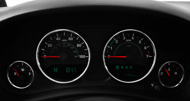 2016 Jeep Wrangler Gauges