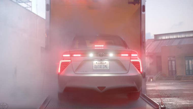 2016 toyota mirai back to the future day delorean