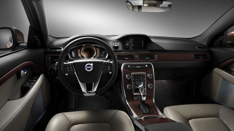 The 2016 Volvo XC70 comes standard with a 3-spoke leather steering wheel