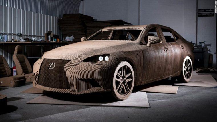 Cardboard Lexus LS