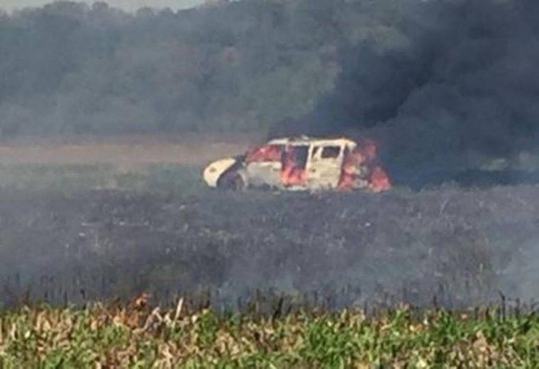 Clay County Van fire 2