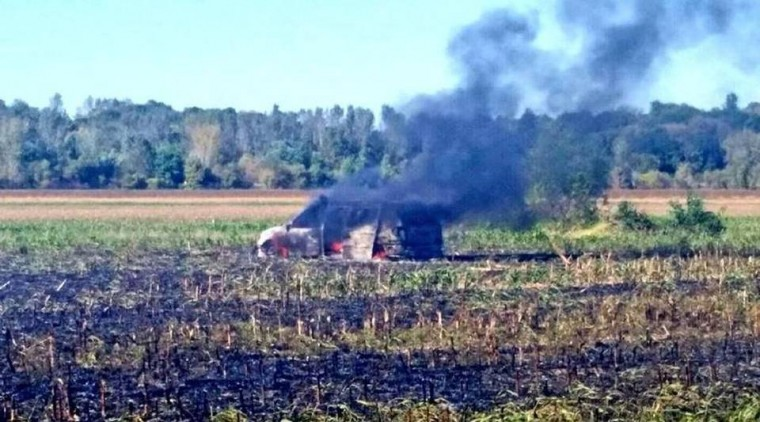 Clay County Van fire