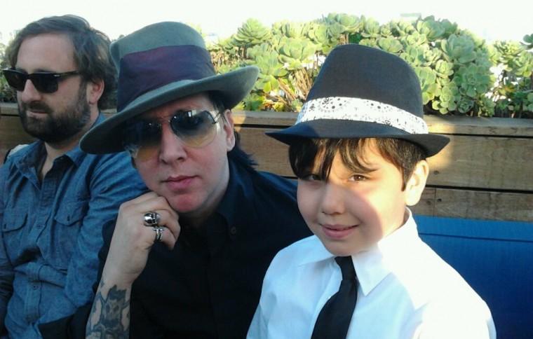 Eric Wareheim Marilyn Manson and child actor Norton Leufven