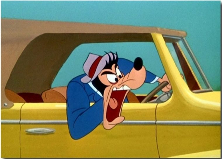 Goofy driving car in Disney's Motor Mania