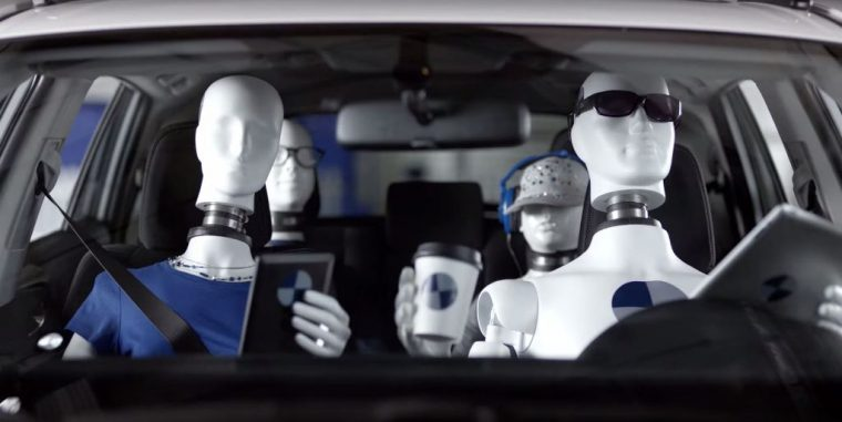 Hyundai Tucson Commercial Safety Town dummy family