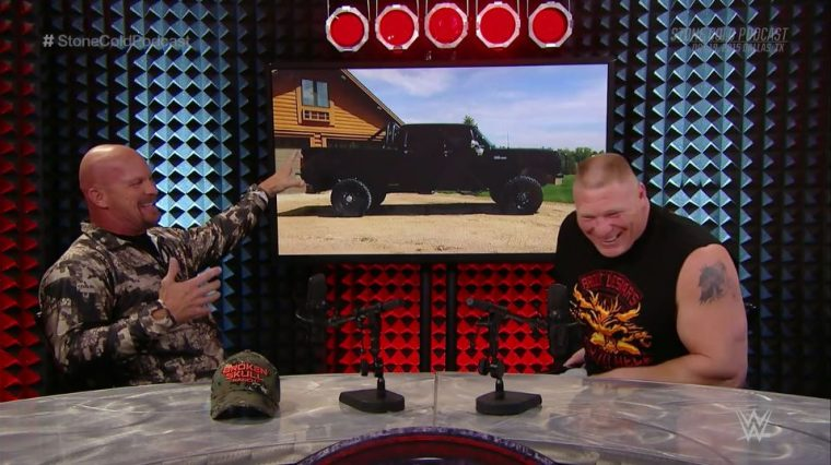 Dodge truck Lesnar Austin laughing