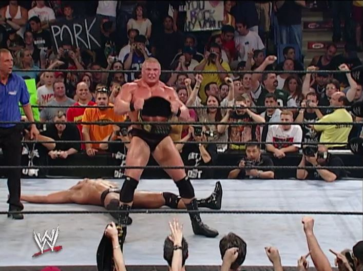 Lesnar Beats The Rock at Summerslam 2002
