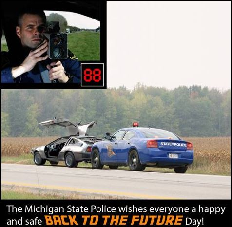 Michigan State Police Back to the Future Day