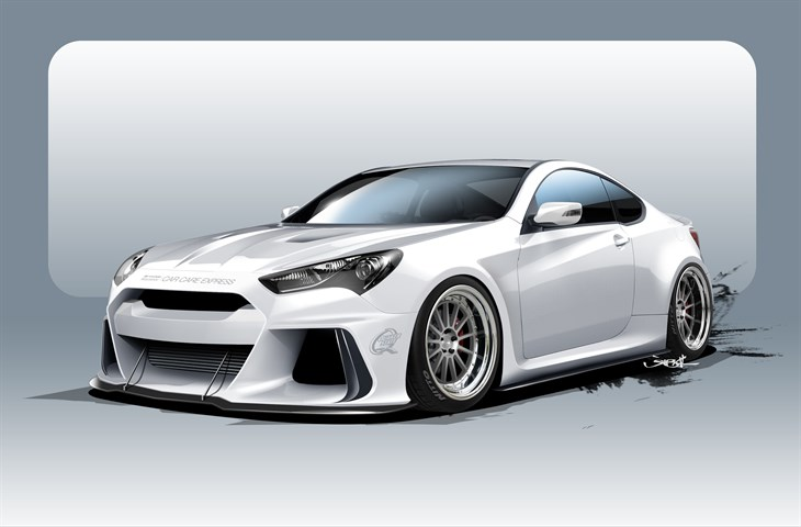 Racing Inspired Solus Genesis Coupe Pits Hyundai Against