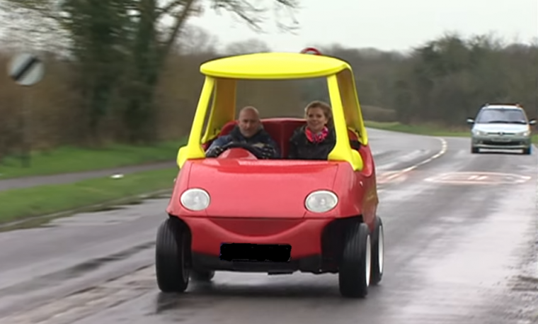 A Daewoo Matiz has been modified into a grown up version of the Little Tikes car and is available on eBay