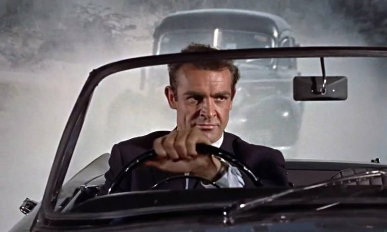 Sean Connery James Bond driving car