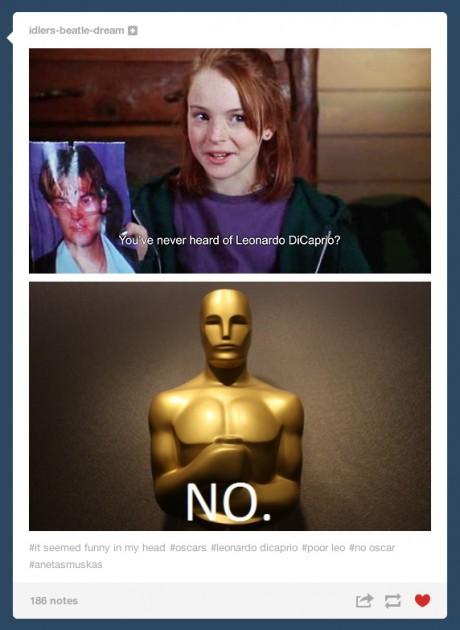 Leonardo DiCaprio Oscar Tumblr