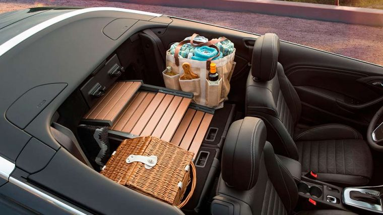 The 2016 Buick Cascada features a trunk emergency release handle