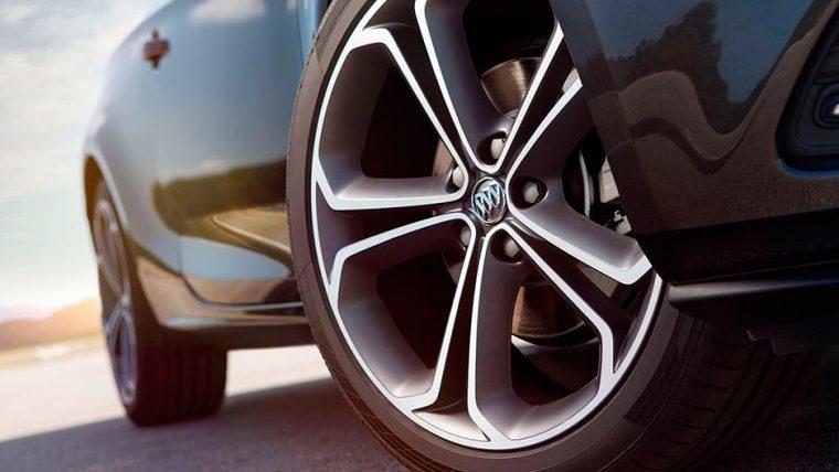 The 2016 Buick Cascada comes standard with 20-inch diamond graphic twin-spoke bi-color finish wheels