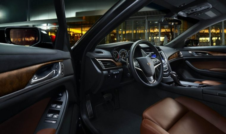Front bucket seats are a standard feature inside the 2016 Cadillac CTS