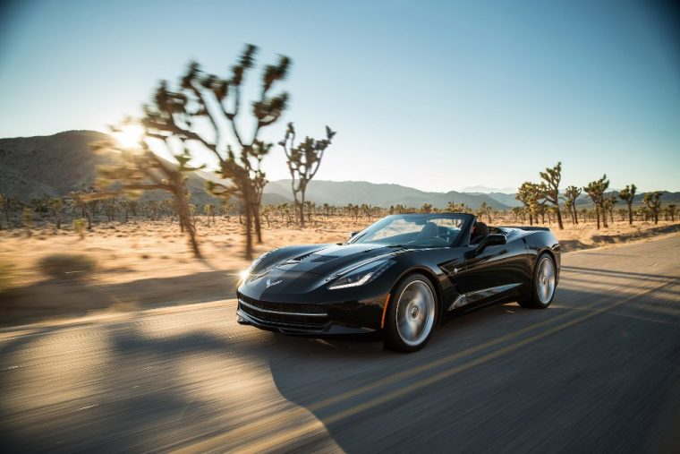 This 2016 Chevy Corvette Stingray is also available as a coupe or convertible