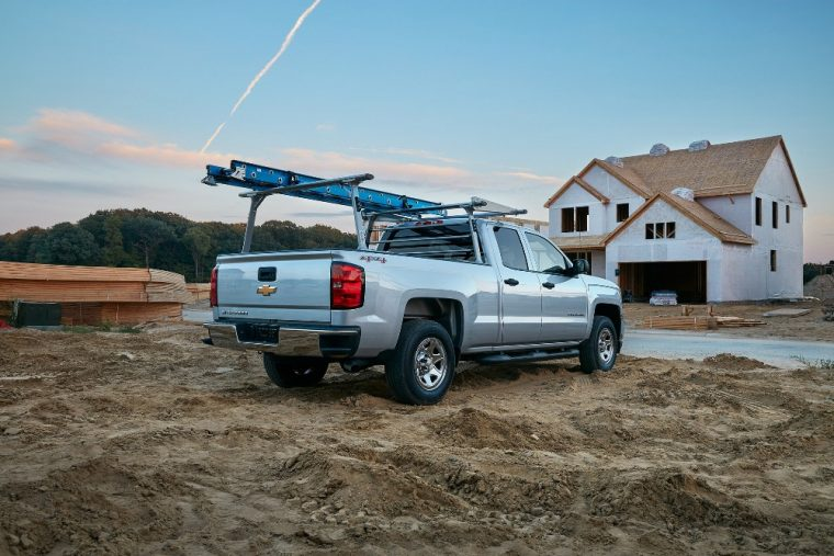 Roof racks are available for the 2016 Chevy Silverado