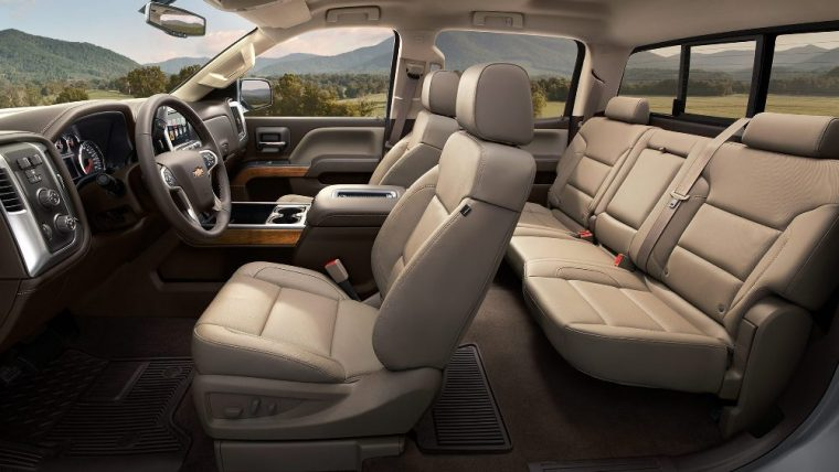 A front 40/20/40 split-bench seat and 60/40 rear folding bench seat are standard for the 2016 Chevy Silverado 1500