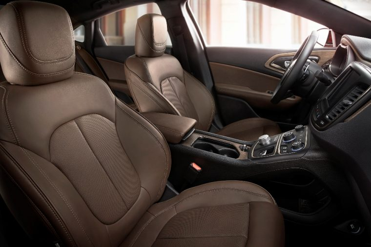2016 Chrysler 200C Mocha Leather interior