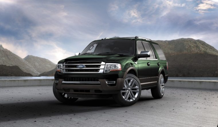The 2016 Ford Expedition King Ranch comes with a Caribou two-tone bumpers and lower fascia