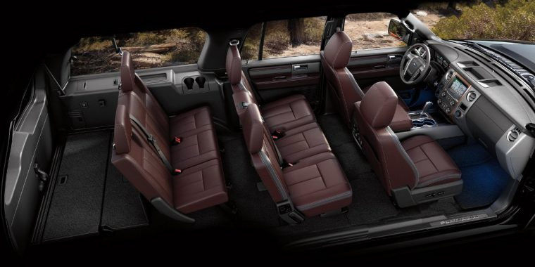 The 2016 Ford Expedition features Second-row 40/20/40 split bench reclining fold-flat seat with CenterSlide®