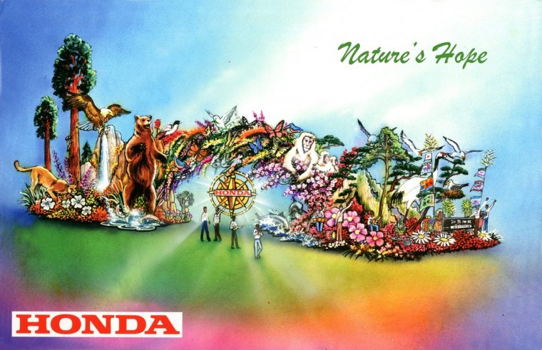 """Honda's float entry, """"Nature's Hope,"""" a stunning representation of the majestic wonders found in national parks, will lead the 127th Rose Parade presented by Honda and introduce this year's theme, """"Find Your Adventure."""""""