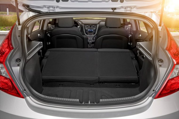 The 2016 Hyundai Accent comes with abundant storage space