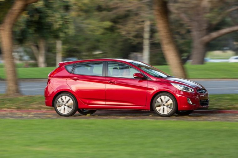 The 2016 Hyundai Accent is good for 137 horsepower and 123 lb-ft of torque