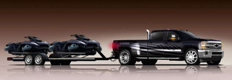 2016 Silverado 3500HD Kid Rock Concept with waterskis