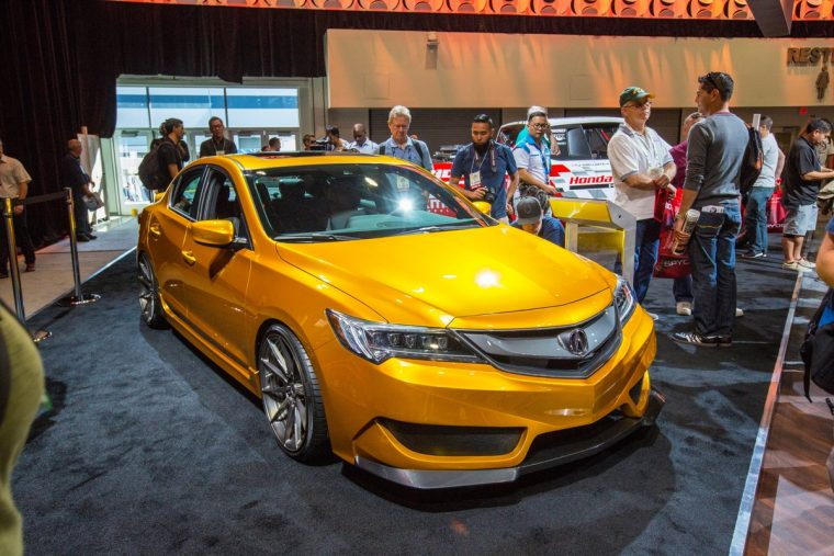 Acura shows the Galpin Auto Sports-built 2016 Acura ILX at the 2015 SEMA Show