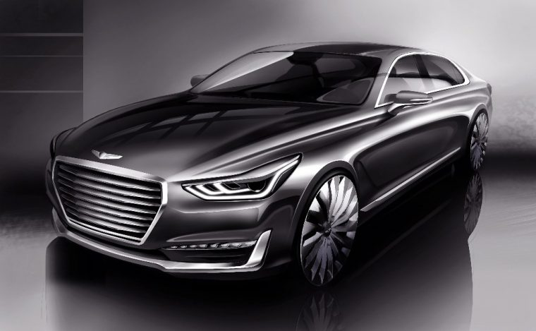 Athletic Elegance Genesis Motors' New Design Language Unveiled G90 rendering front