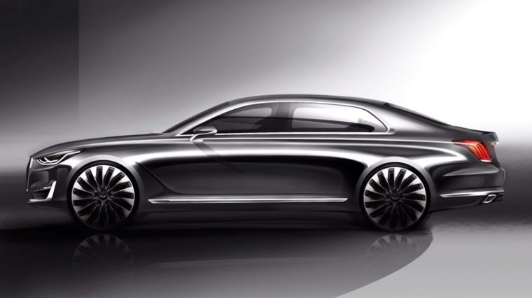 Athletic Elegance Genesis Motors' New Design Language Unveiled G90 rendering side