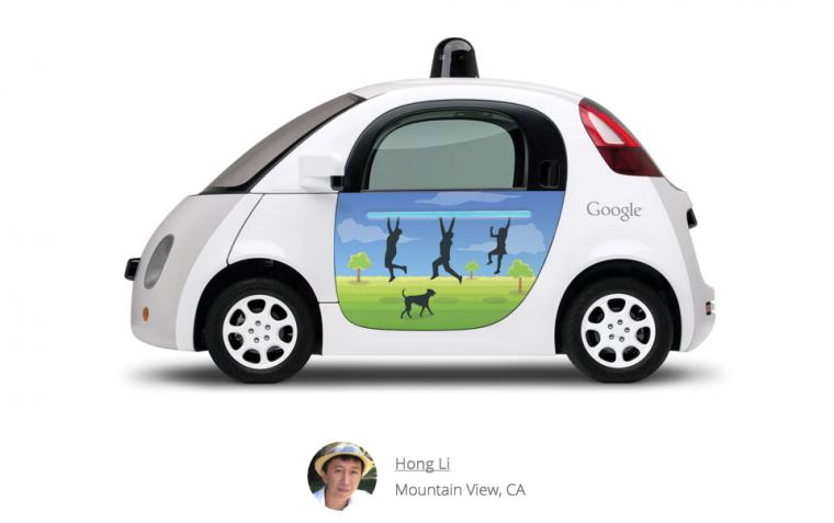 Google Doodle on Google Car Park Playing