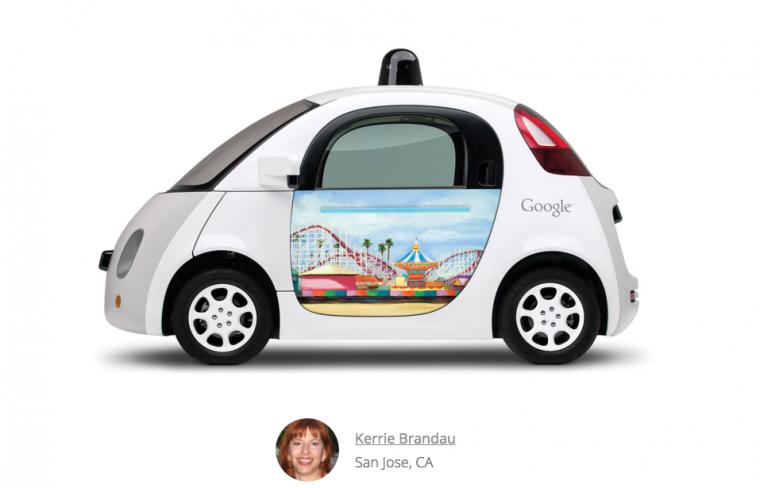Google Doodle on Google Car Roller Coaster