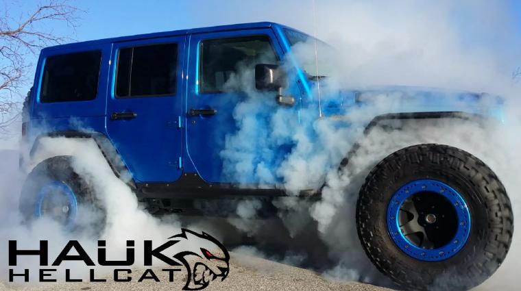 Hauk Hellcat Jeep Wrangler Unlimited Burn Out