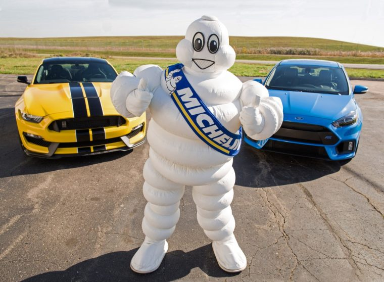 Michelin Man with Shelby GT350 and Ford Focus RS