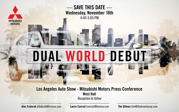 Mitsubishi LA Auto Show Invitation