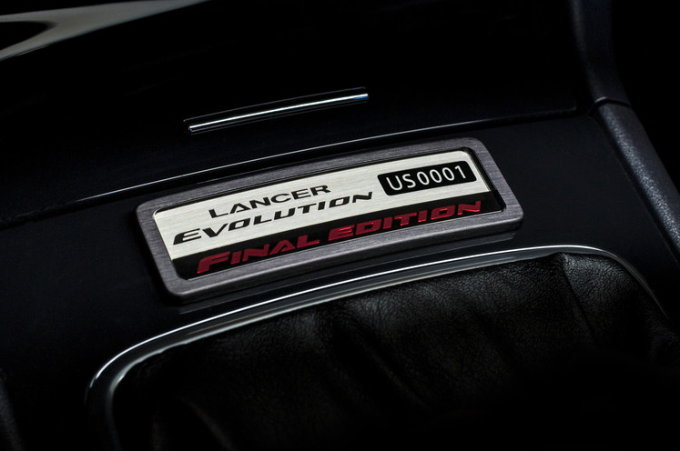 Mitsubishi Lancer Evolution Final Edition Number 0001 Plaque
