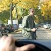 Pedestrian Crossing the Road