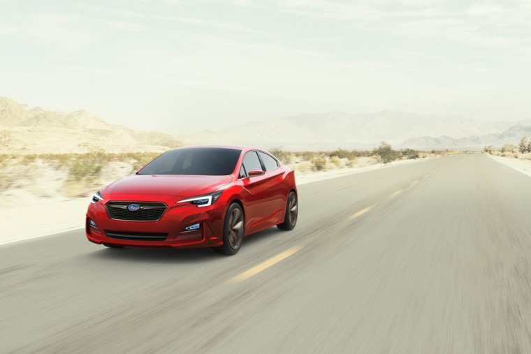The all-new Subaru Impreza Sedan Concept debuted at the 2015 Los Angeles Auto Show
