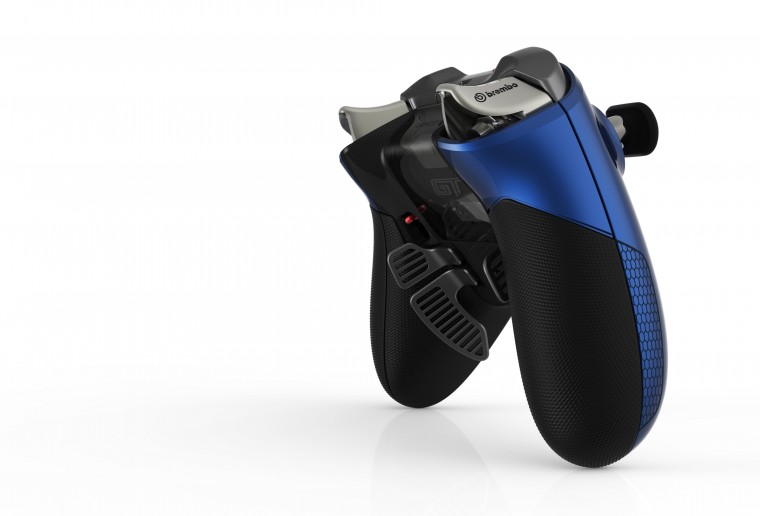 "Xbox Elite Wireless ""GT"" Controller - front and back angles"