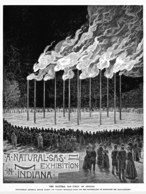Natural Gas Demonstration, 1889