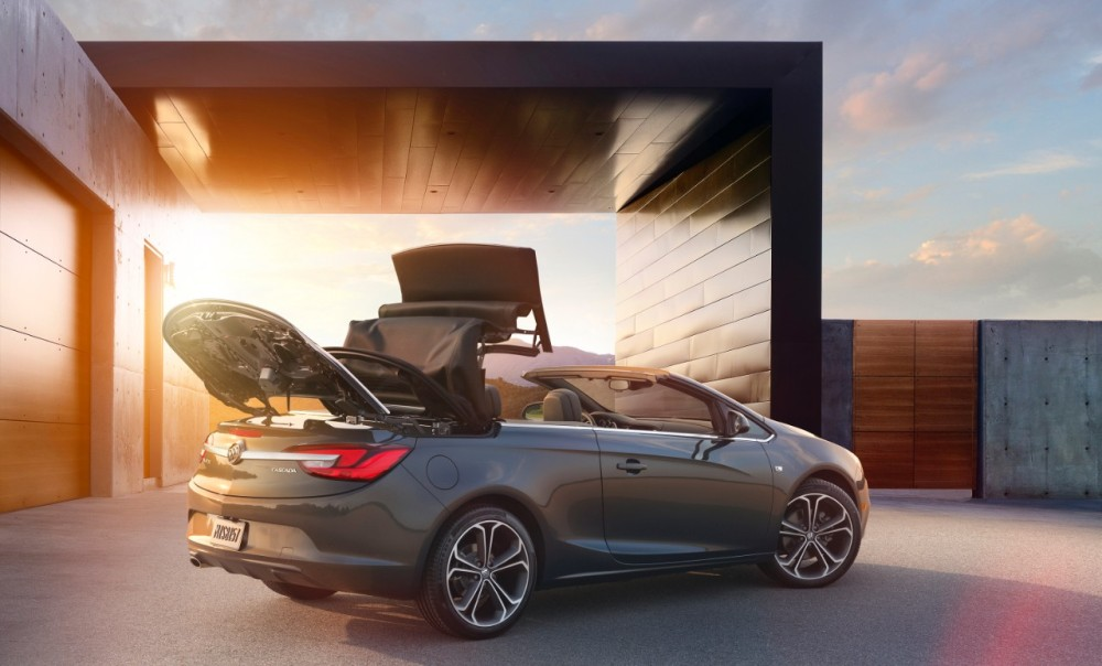 2016 Buick Cascada convertible with soft-top roof retracting