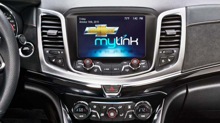The 2016 Chevrolet SS features the Chevrolet MyLink infotainment system