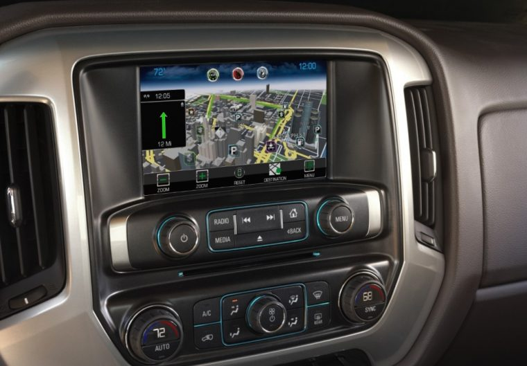The Chevrolet MyLink® audio system with 8-inch Diagonal Color Touch screen is available for the 2016 Chevy Silverado 2500 HD