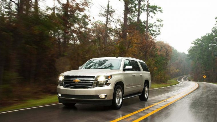 18-inch aluminum wheels come standard on the 2016 Chevy Suburban