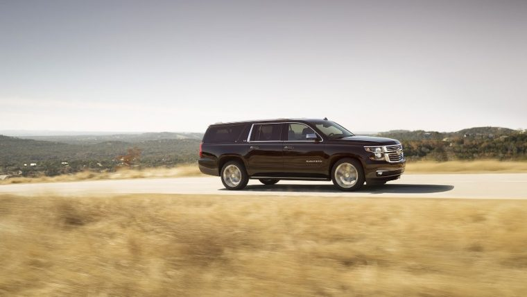 The 2016 Chevrolet Suburban features a 355 horsepower engine